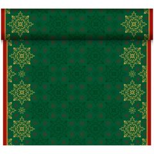 Duni Xmas deco green šerpa 0,4x24m