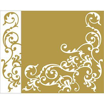Mank Pomp white-gold 40x40cm, 50ks/ba