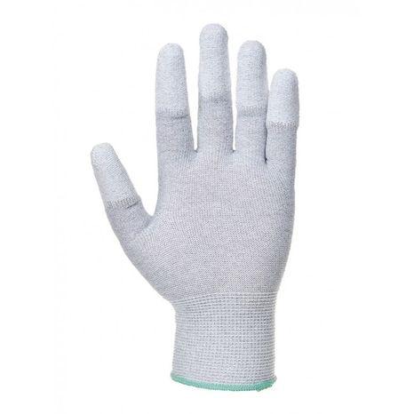 Antistatické rukavice biele Top Fit L