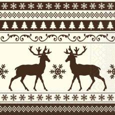 Mank Basti brown papierové servítky 33x33cm, 3vrst., 200ks/ba