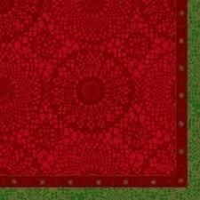 Duni festive charme red papierové servítky 33x33cm, 250ks/ba