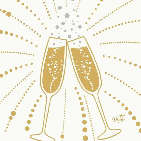 Duni Festive cheers white 40x40cm, 50ks/ba