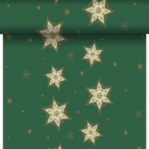 Duni Glittering star green šerpa 0,4x24m