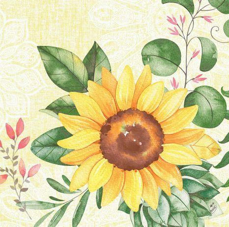 Duni Sunflower dunisoft 40x40cm, 60ks/ba