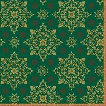 Duni Xmas deco green papierové servítky 33x33cm, 3vrst., 250ks/ba