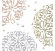 duni Festive mood white papierové servítky 33x33, 3vrst., 250ks/ba