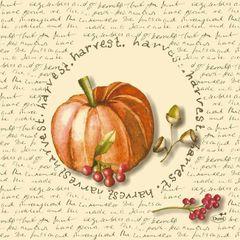 Duni Fruits of autumn papierové servítky 33 x 33 cm, 3-vrst, 250 ks / ba