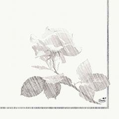 Duni Grey rose papierové servítky 33 x 33 cm, 3-vrst, 50 ks / ba