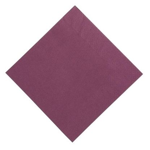 Duni Jednofarebné servítky 24 x 24 cm slivková , 2-vrstvové, 300 ks / ba