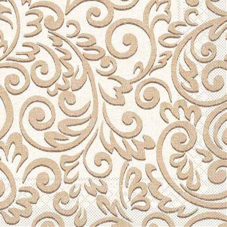 Mank Bosse brown papierové servítky 40x40cm, 3vrst, 100ks/ba