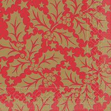 Mank Michael red papierové servítky 33x33cm, 3vrst., 100ks/ba