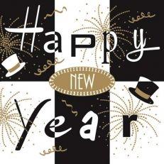 mank New Year black 40x40cm, 50ks/ba