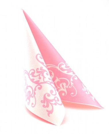 Mank Pomp ružovo-biela 40 x 40 cm, 50 ks / ba