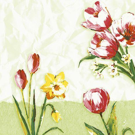 Duni Red tulip servítky 33 x 33 cm, 3-vrst, 250 ks / ba