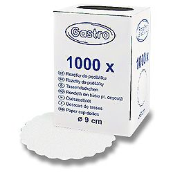 Rozetky do podšálky biele pr. 9 cm, 1000 ks / ba