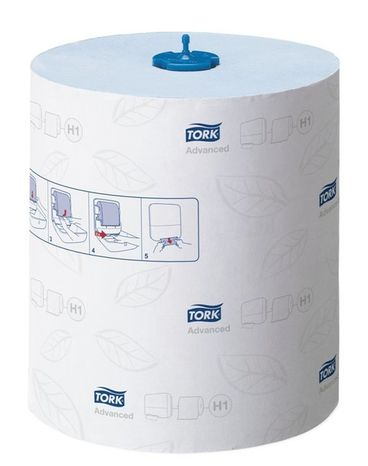 Tork Matic jemné papierové utierky v kotúči 2-vrstv. recykel / modrá